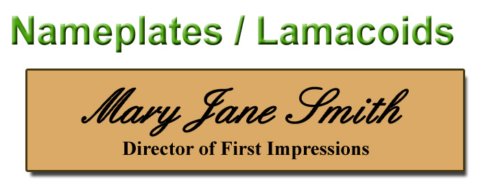 Best Sellers - Nameplates / Lamacoids