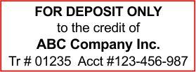 Bank Deposit Stamp