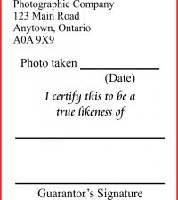 Passport Photo Stamp