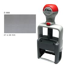 "Shiny E-900 (replaces H-6000) - 15/16"" x 1-5/8"" (24mm x 41mm) - Heavy Duty Self Inking"