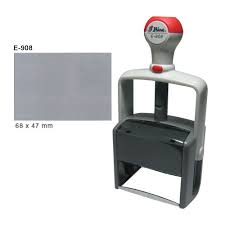 "Shiny E-908 (replaces H-6008) - 1-7/8"" x 2-5/8"" (47mm x 68mm) - Heavy Duty Self Inking"