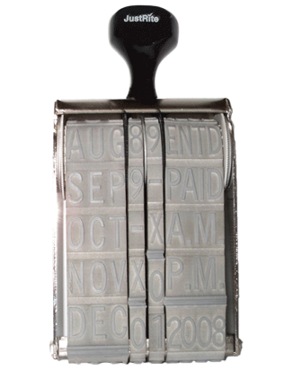 Justrite Oversized Manual Dater Stamps